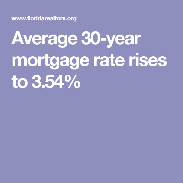 Average 30-year mortgage rate rises to 3.54%
