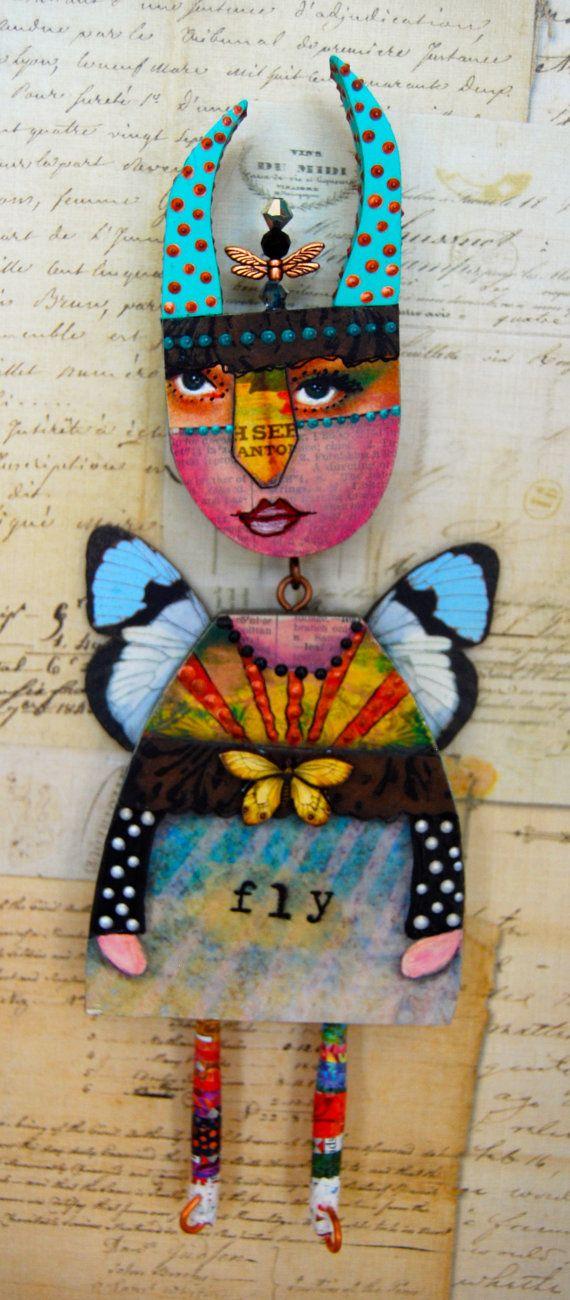 Altered Expression Art Doll Metamorphosis by desertdreamstudios