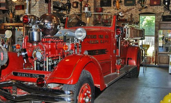 Super rad vintage fire truck! It has such a story to tell from it's years of service. Taking inspiration for heroic pasts and using it to inspire the future is definitely something we love to do!  :)
