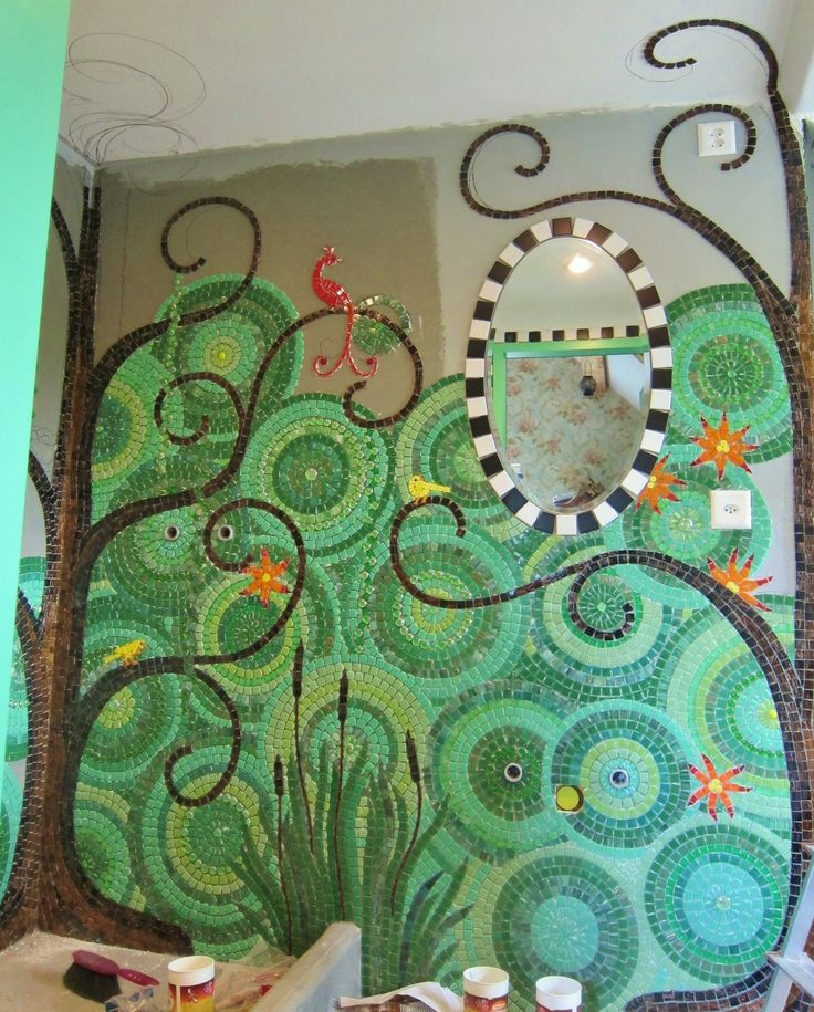 Frances Green - Mosaic Bathroom wip