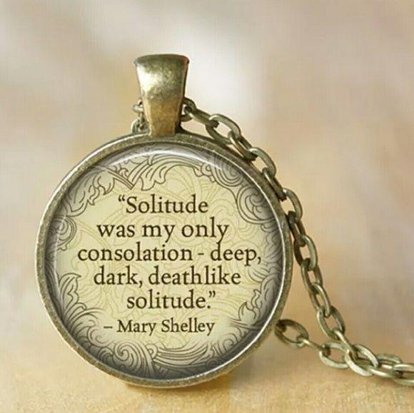 Deep dark solitude - Frankenstein quote necklace New Mary Shelley Frankenstein quote necklace Jewelry Necklaces