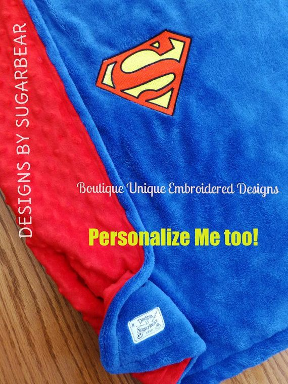 Hey, I found this really awesome Etsy listing at https://www.etsy.com/listing/200137360/superman-blanket-lovey-mini-snuggle-size