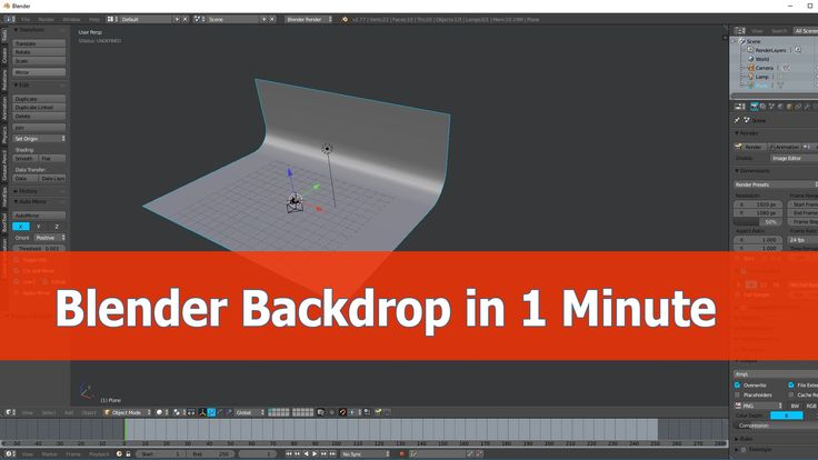 Blender Create Backdrop Tutorial