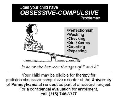 a look at the obsessive compulsive disorder disease Obsessive compulsive disorder can have a profound effect obsessive compulsive disorder anxiety disorders children look to their parents or carers to judge.