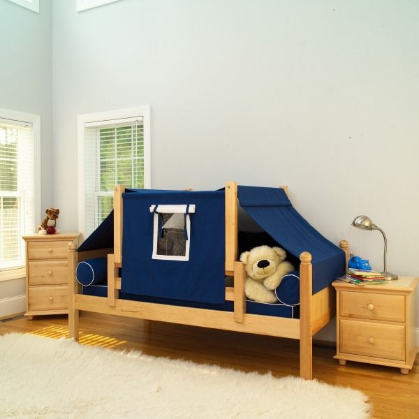 Maxtrix Boys Tent Bed Blue Curtains And Matching