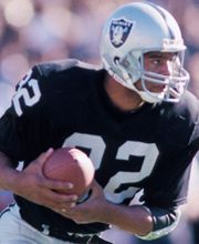 #32 Marcus Allen. My first childhood crush (he has pretty eyes), and one of my top 3 all-time favorite Raiders.