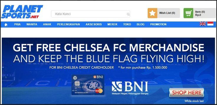 Free Chelsea FC Merchandise dari Planet Sports