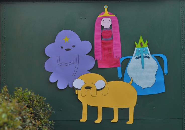 Adventure Time Giant Wall Decorations DIY paper kits; Finn, Jake