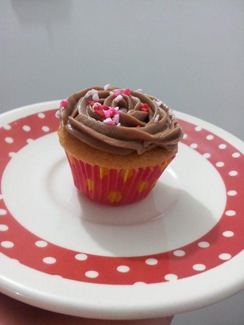 Cupcake Nutella con Nueces...