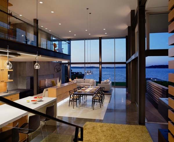 captivating modern lake house modern dining roomsdream homesmodern interiorluxury