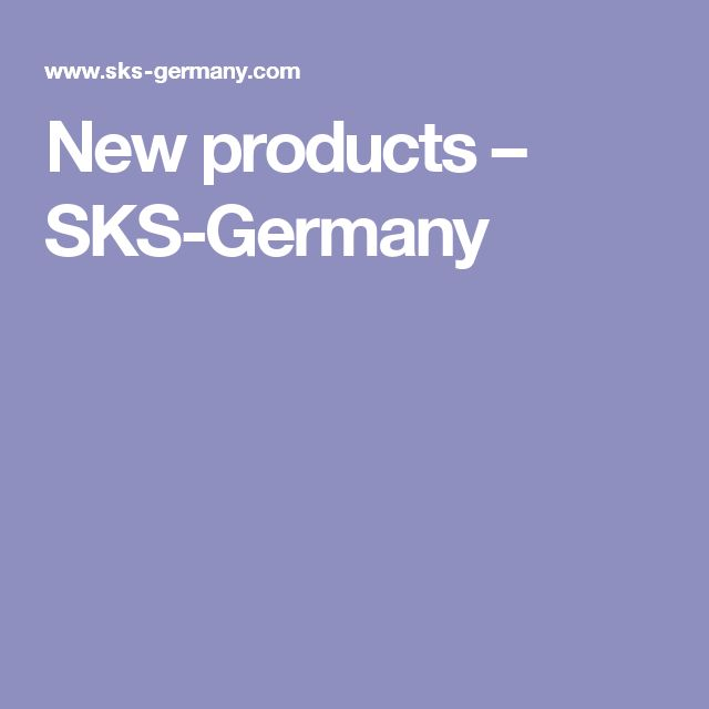 New products – SKS-Germany