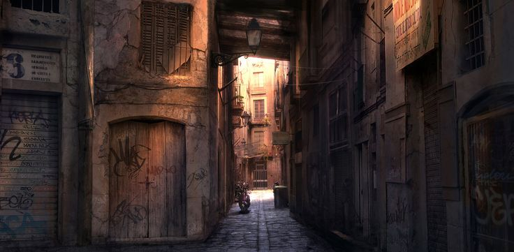Barcelona Alleyway Sunrise by atomhawk on DeviantArt