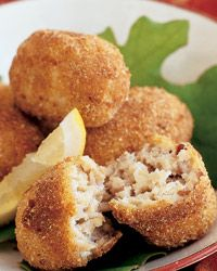 Chicken Croquettes.  I recently made these for a Spanish Tapas night at my place and got rave reviews.  They even taste good the next day warmed up in the oven or microwave.