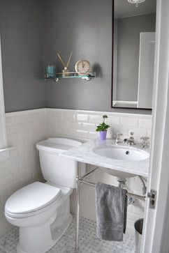 Tiled Bathroom Half Wall 15 best images about small bathrooms on pinterest | traditional