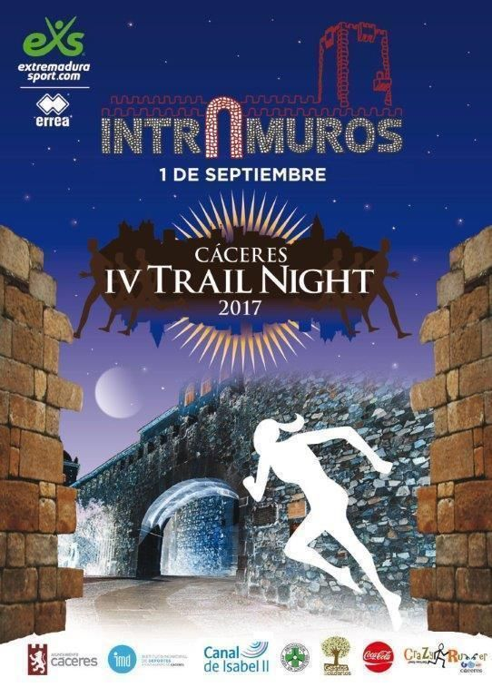 IV Trail Night Intramuros 2017 en Cáceres.-