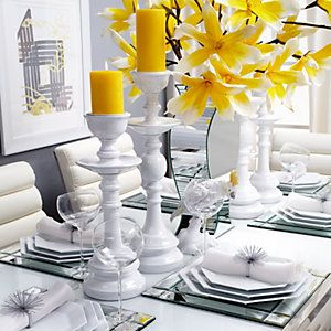 Distinctively decorate your table for spring celebrations.