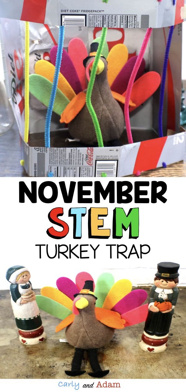 November Thanksgiving STEM Activity Turkey Trap