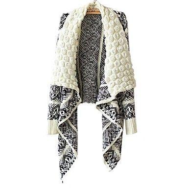 da vuelta-abajo bohemios suéteres largos irregulares de las mujeres de la manga más colores - USD $ 19.79