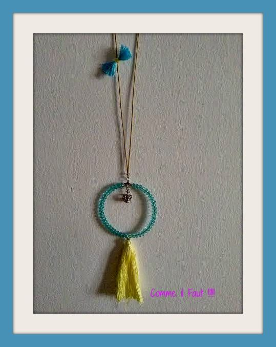 Light blue rosary with tassel !!!!!!!