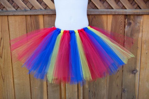 Red Blue and Yellow Tutu/Superman Tutu by LittlePigletBoutique