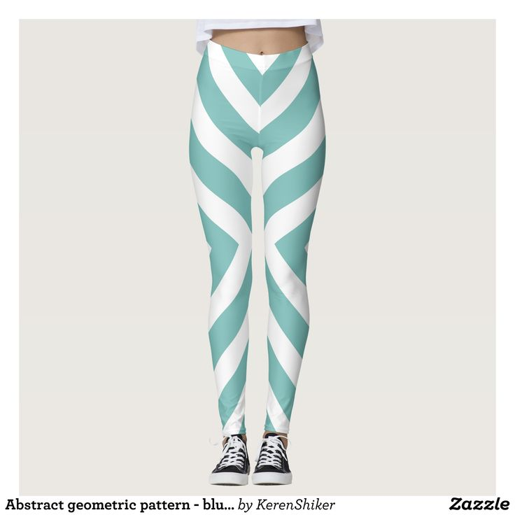 Abstract geometric pattern - blue and white. leggings : Beautiful #Yoga Pants - #Exercise Leggings and #Running Tights - Health and Training Inspiration - Clothing for #Fitspiration and #Fitspo - Strong Female and Female Empowerment Apparel - #Fitness and Gym Inspo - #Motivational Colorful Workout Clothes by Talented Graphic Designers