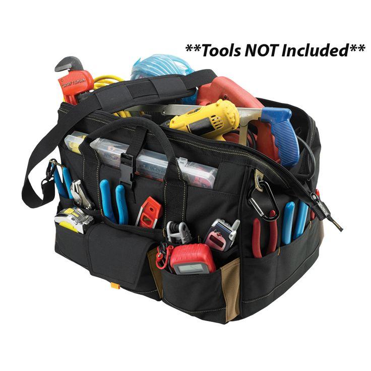 "CLC 1535 18"" Tool Bag w/ Top-Side Plastic Parts Tray - https://www.boatpartsforless.com/shop/clc-1535-18-tool-bag-w-top-side-plastic-parts-tray/"