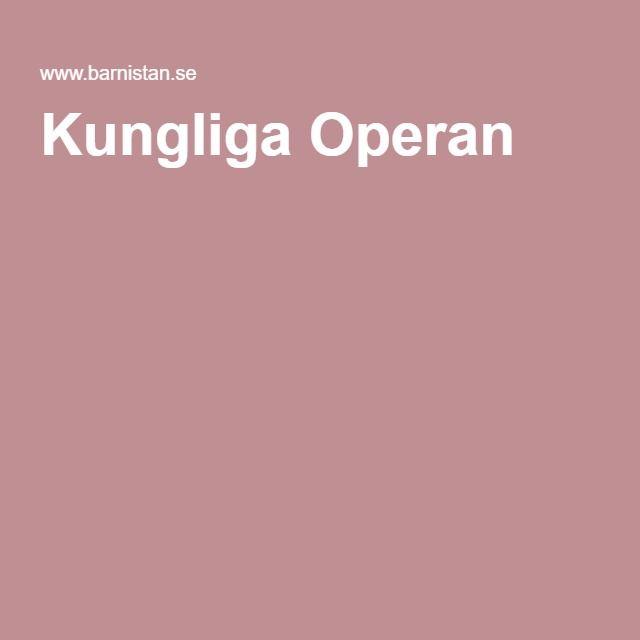 Kungliga Operan - barnlördagar första lördagen i månaden (passar för 5-10 år)