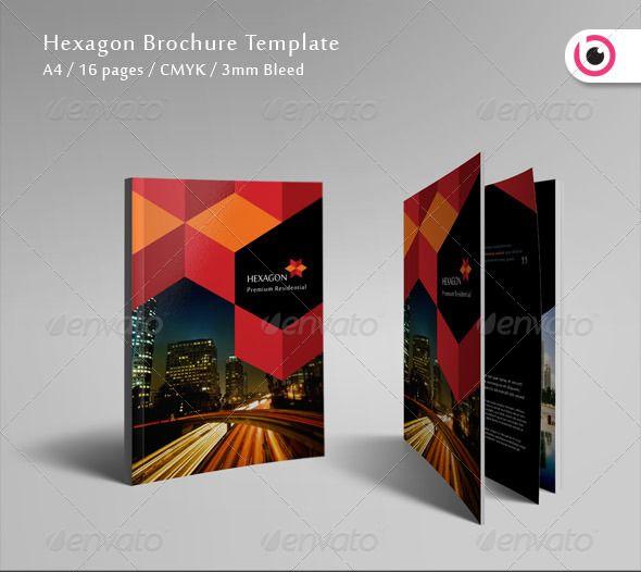 hexagon brochure design inspiratiØn pinterest brochure design