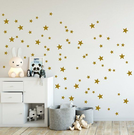 Mini Stars Wall Decals Mixed Set Of 90 Little Stars 2 Up