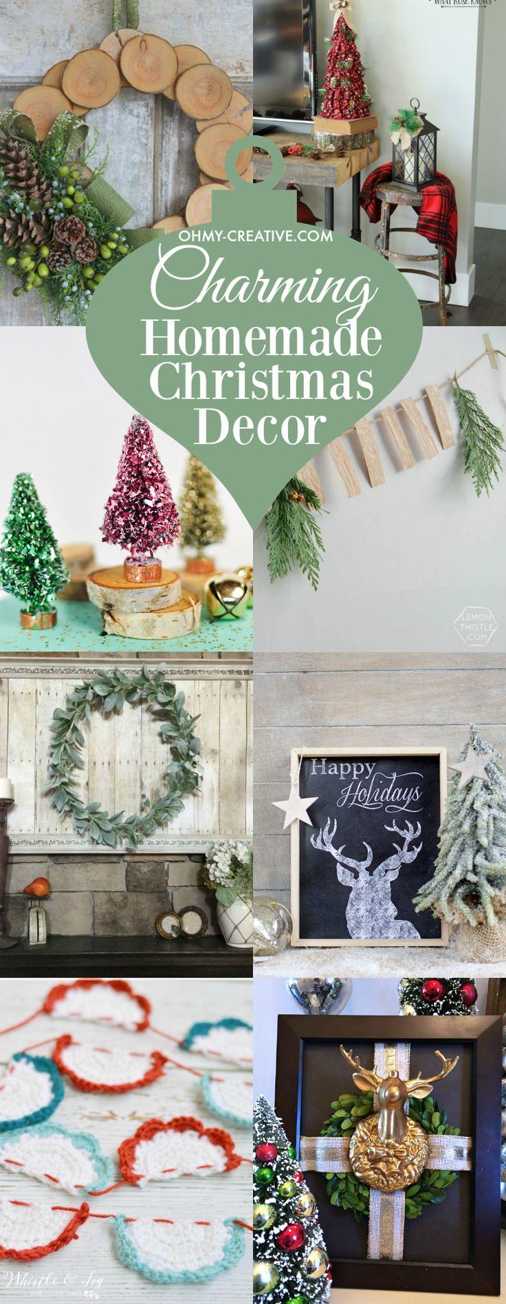 Eu amo a vindima ... o caseiro ... as coisas que trazem charme de férias para a casa.  Aqui estão algumas adoráveis encantadoras decorações de Natal caseiras eu adoro!  |  OHMY-CREATIVE.COM