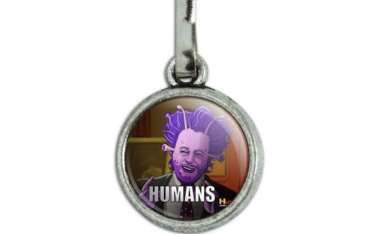 Human Aliens Guy History Meme Charm Zipper Pull Aid