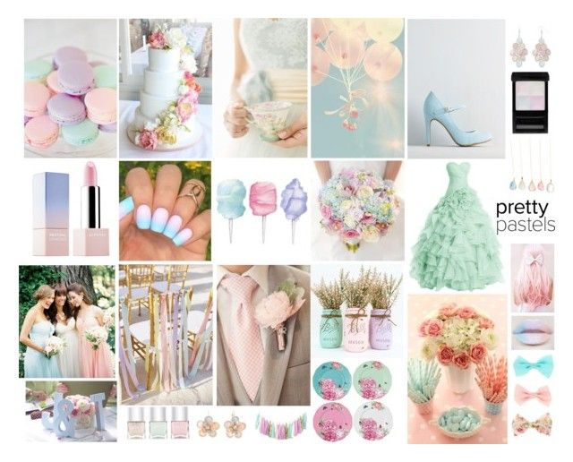 Pastel Spring Wedding Set by bee-hooper on Polyvore featuring Mixit, Arizona, Sephora Collection, Givenchy, Nails Inc., Royal Albert and Donna Morgan