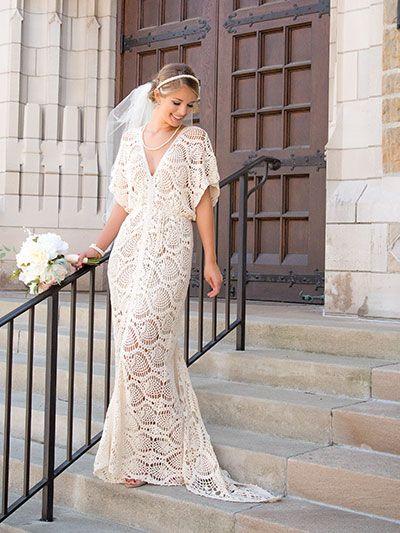 Gorgeous Wedding Dress found in Annie's Craft Store - Crochet! Spring 2017 - $7.99 download.