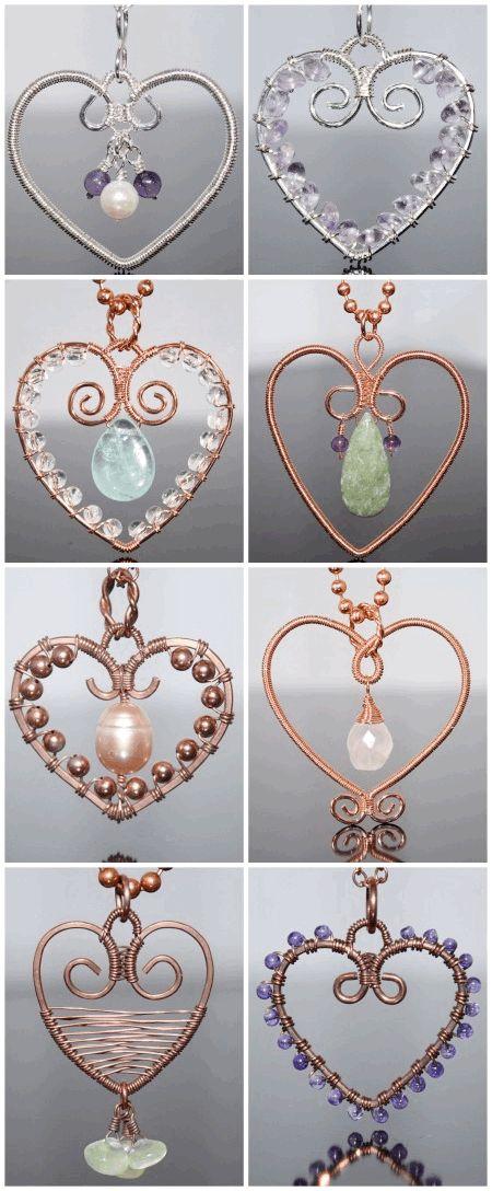 Wire Hearts | Wire Heart Pendant | Wire Heart Ideas | Wire Heart Crafts | Wire Heart Charm | Valentine Heart Ideas |