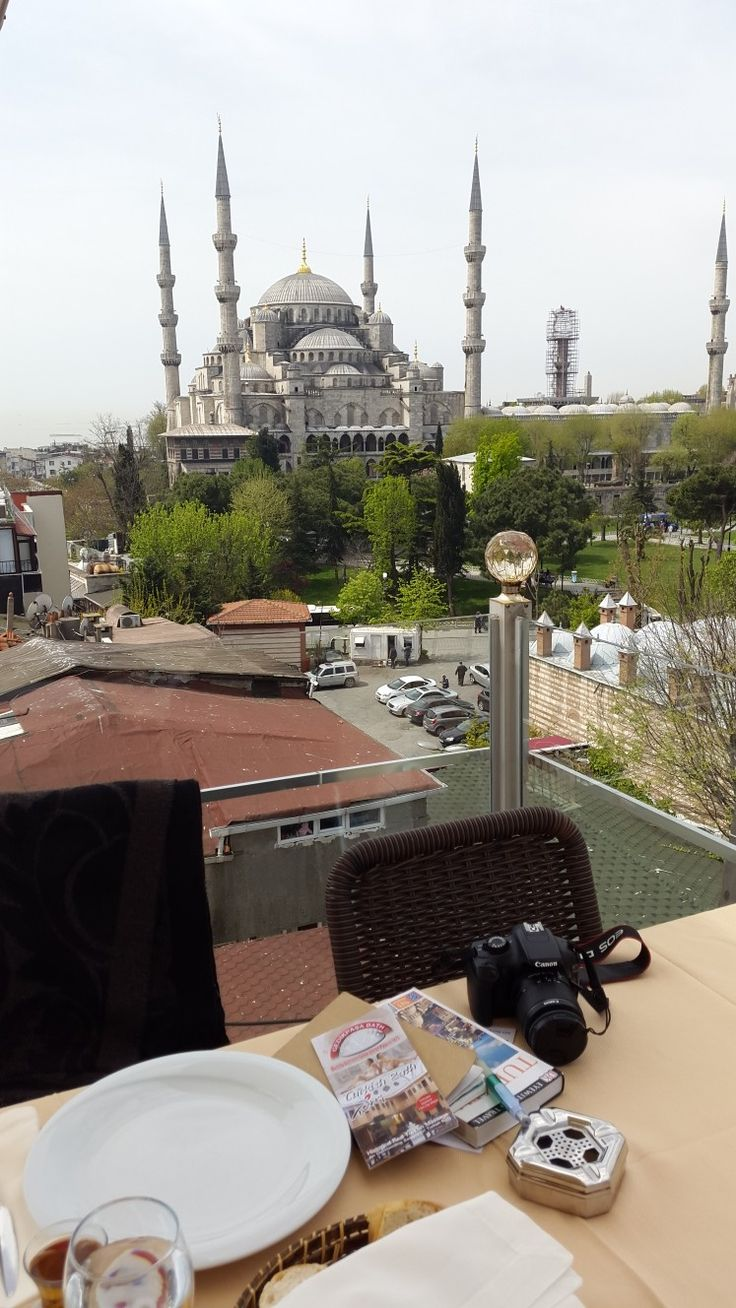 The Blue Mosque from the Seven Hills Hotel in Istanbul, Turkey