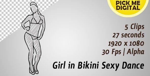 Girl in Bikini Sexy Dance