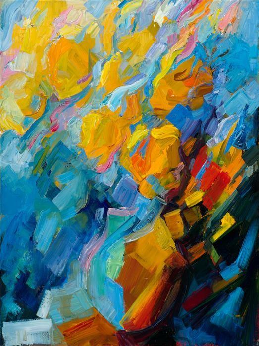 Mozart: Violin Sonata in D K306 by Lena Levin | http://www.ugallery.com/oil-painting-mozart-violin-sonata-in-d-k306