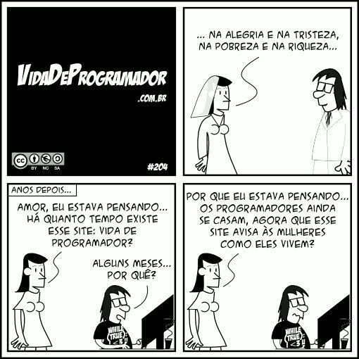 Programadores se casam?   Vida de Programador