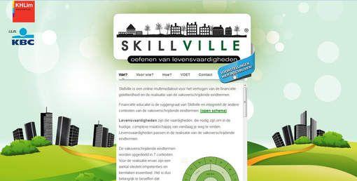 Skillville. Een multimediatool of serious game waarmee jongeren en volwassenen hun financiële geletterdheid kunnen verhogen.
