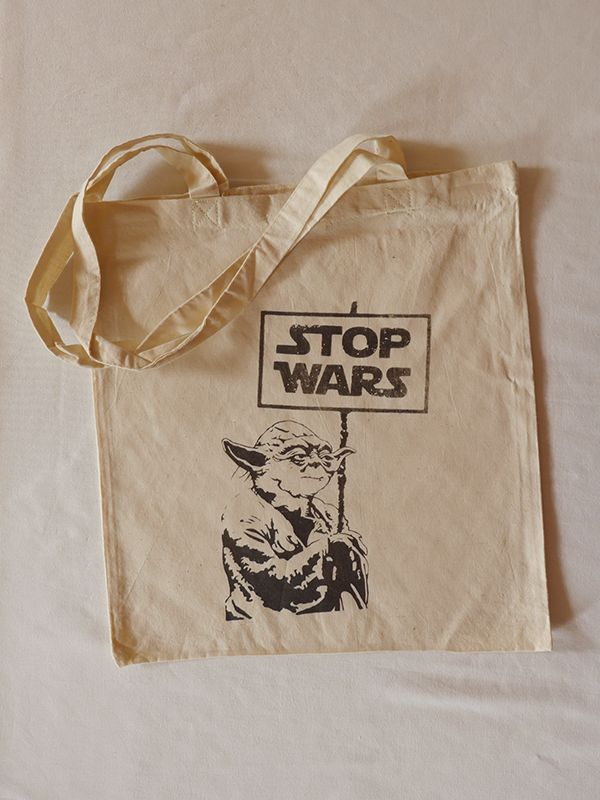 Stop Wars Cotton Tote via Tribe of E. Click on the image to see more!