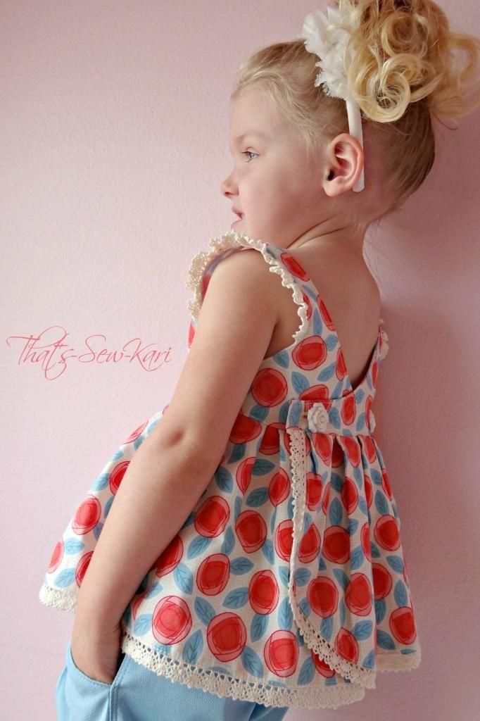 Top blusa o vestido, en tela de algodón, para niñas by Brownie Goose Bundle.