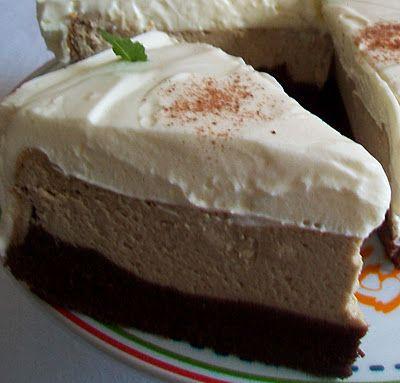 brownies-cheesecake kávový