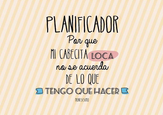 Planificador Imprimible en Español. Para mantenerte organizada.