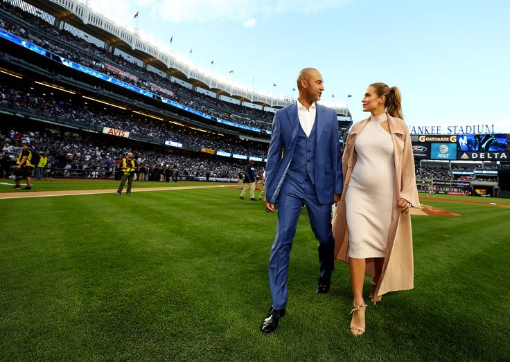 Legendary Yankees player Derek Jeter was honored at Yankee Stadium on Sunday, May 14, and joining him for the momentous occasion was his pregnant wife, Hannah Jeter.