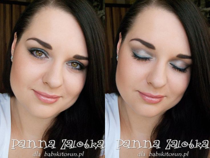makijaż w odcieniach szarości - light gray makeup