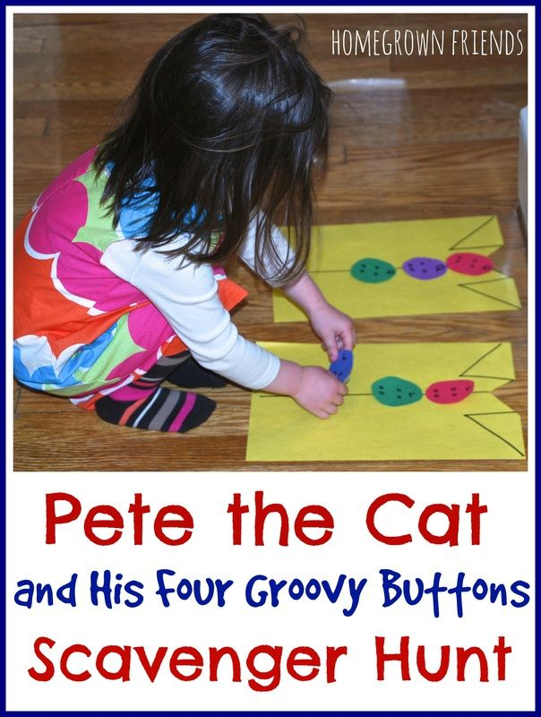 Scavenger Hunt for Pete the Cat and His Four Groovy Buttons