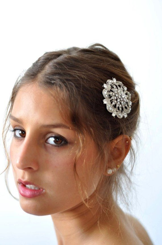 Diamante Headpiece ,Wedding Jewel Comb, Bridal hair comb, Rhinestone hair comb, Rhinestone bridal comb, crystal wedding jewelry – Suffix Duffy