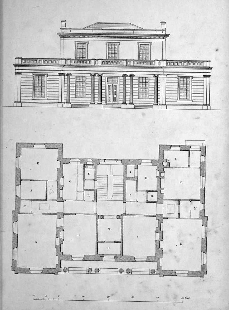 Elevation and plan for a country estate, England  ARCHI/MAPS : Photo