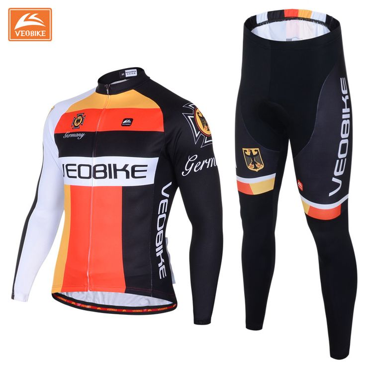 VEOBIKE Brand Pro Team Sportswear Men's Long Sleeve Cycling Jersey Set Sports Shirt Bike Wear Cycling Clothing Ciclismo Clothing * AliExpress Affiliate's Pin.  Click the VISIT button to enter the AliExpress website