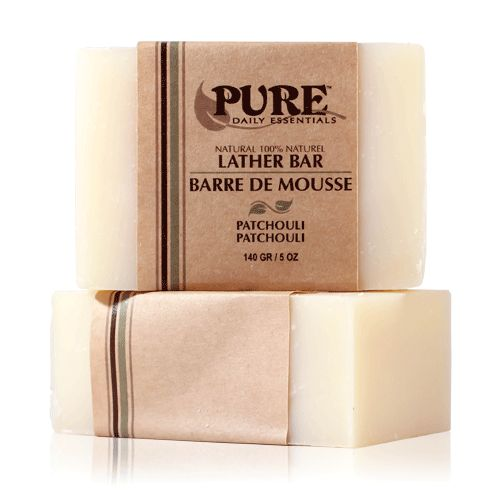 Lather Bar Patchouli - Featuring the sensuous aroma of Patchouli, this pure and natural bar soap will leave your skin feeling soft with an earthy scent.   - See more at: http://www.puredailyessentials.com/shower-and-bath/patchouli-lather-bar.html